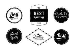Conjunto de etiquetas de vetores em preto e branco grátis