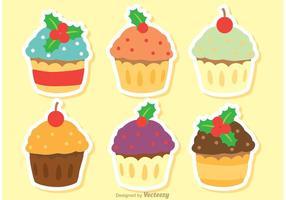 Pacote Vector do Cupcake de Natal