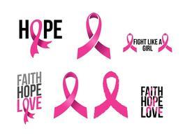 Fitas de câncer de mama vetor