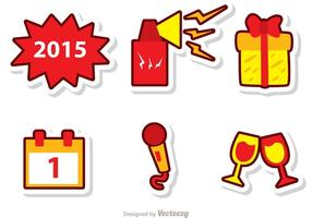 Vetores de Véspera de Ano Novo Feliz Pack 3