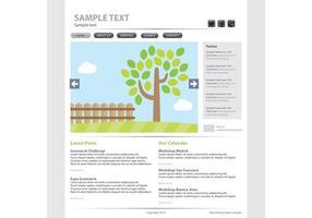 Modelo de vetor da página da Web Eco