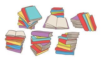 Vetores grátis de pilha de livros