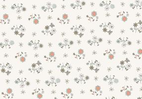 Vector de padrão de flores desenhadas à mão