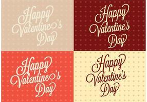 Polka Dot Heart Dia dos Namorados Backgrounds vetor