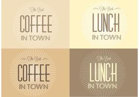 Free Retro Sunburst Cafe Backgrounds vetor