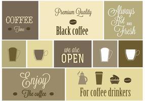Desenhos livres do vetor do café