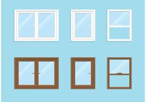 Conjunto de janelas de vetores grátis