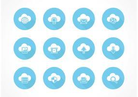 Ícones de vetores grátis para computação em nuvem