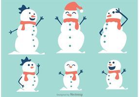 Pacote do vetor da família do boneco de neve