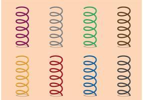 Conjunto de mola de bobina de vetor