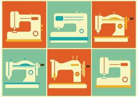 Vetores da máquina de costura vintage