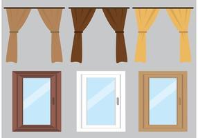 Cortina de vetores grátis e janelas