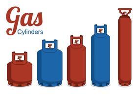 Cilindros de gás com vetor livre