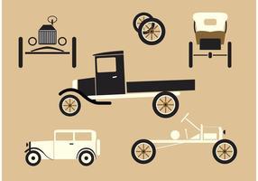 Carros dos anos 20 vetor