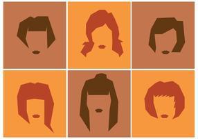 Vetores de penteado feminino