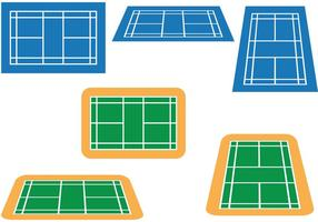 Pacote Vector de Badminton Court