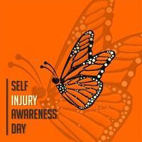 dia da consciência de auto-lesão