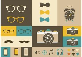 Elementos do vetor Hipster