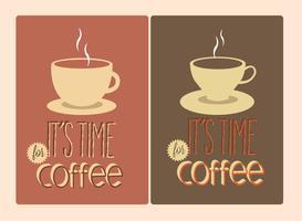 Sinais de tipografia de café gratuitos vetor