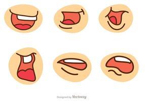 Pacote de vetores de boca de desenho animado