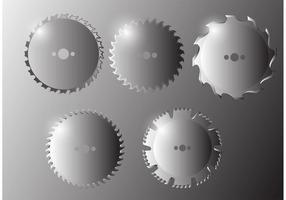 Lâmina de serra circular vetor