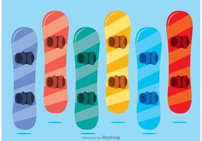 Pacote colorido do vetor do Snowboard
