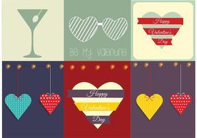 Cartão de vetor gratuito do dia dos namorados