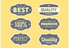 Coleção de etiquetas de qualidade vetor