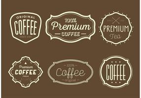 Etiquetas para café e chá vintage vetor