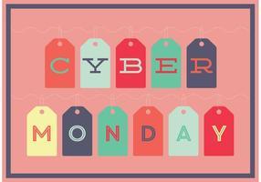Modelo da etiqueta Cyber Monday vetor