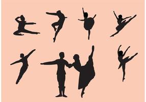 Conjunto de Silhuetas de Dançarino de Bailarino de Nutcracker