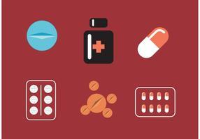 Conjunto de comprimidos de vetores brancos