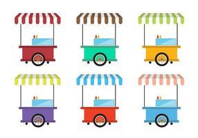 Vetores do carrinho de comida vintage