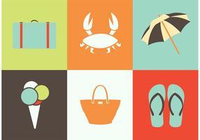 Vetores de ícones de verão