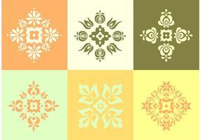 Coleção de elementos florais vetor