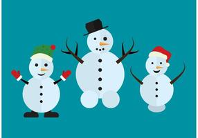 Projeto isolado de boneco de neve vetor