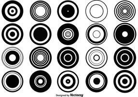 Formas do círculo de vetores retros