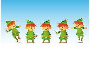 Peter Pan Characters vetor