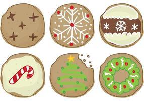 Biscoitos natalinos vetor