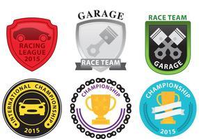 Emblemas de corrida vetor