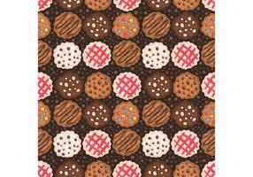 Vetor de padrões de cookies de pedaços de chocolate grátis