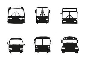 Frente de silhueta do carro de ônibus vetorial grátis vetor