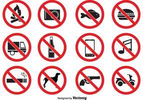 Ícones vetoriais proibidos vetor