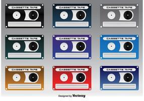 Bonitos ícones de cassete