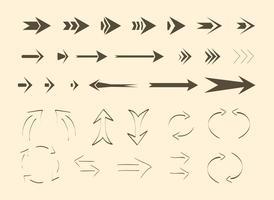 Setas e linhas de vetores grátis