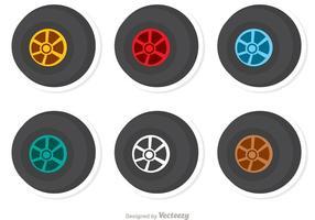 Pacote de vetores de corrida de rodas