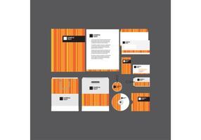 Modelo de perfil de empresa com laranja e listrado vetor