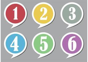Bolhas de fala numeradas vetor