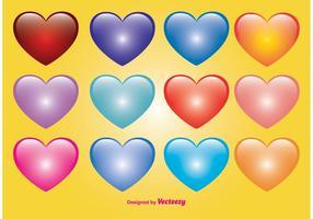 Corações bonitos do vetor