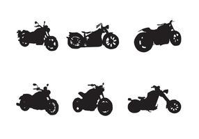 Silhuetas de vetores de motocicleta grátis